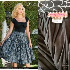 Pinup Girl Couture Spider Web Jenny Skirt NWOT